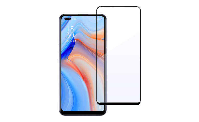 Full Glue Full Cover Tempered Glass Screen Protectors for OPPO Reno4 from Dongguan Medas