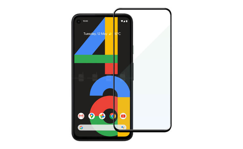 wholesale oem custom full glue edge to edge tempered glass screen protectors for Google Pixel 4a from Dongguan Medas
