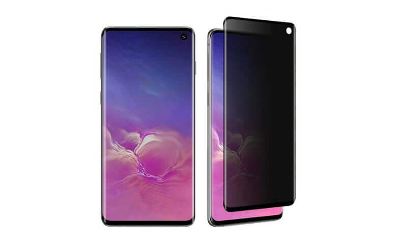 wholesale privacy 3D tempered glass screen protectors for Samsung Galaxy S10