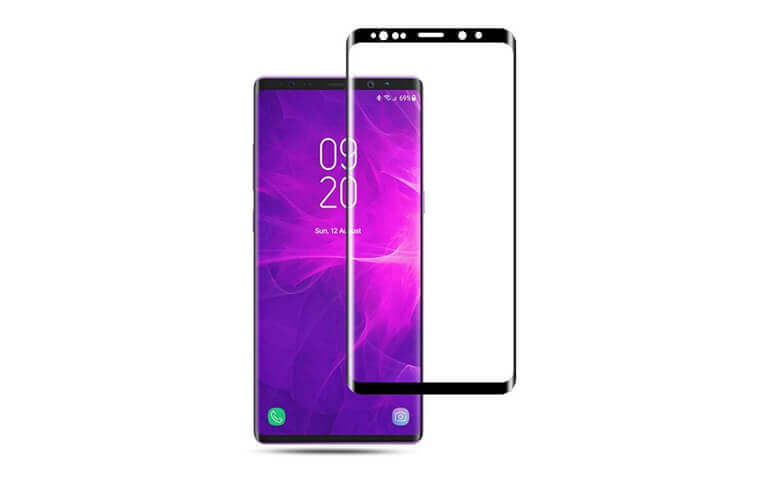 3D full coverage tempered glass screen protectors for Samsung Note9