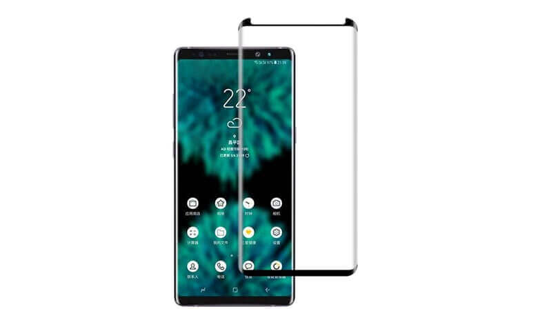 wholesale and OEM custom case friendly 3D tempered glass screen protectors for Samsung Note9