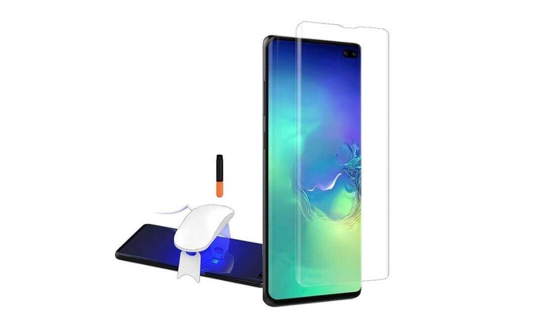 wholesale liquid UV glue 3D tempered glass screen protectors for Samsung Galaxy S10 Plus