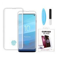 wholesale liquid UV glue tempered glass screen protectors for Samsung S10 and S10 Plus